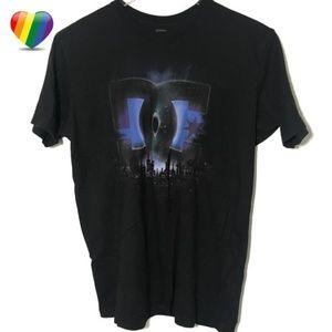 DC City Skyline Graphic Short Sleeve Tee Shirt